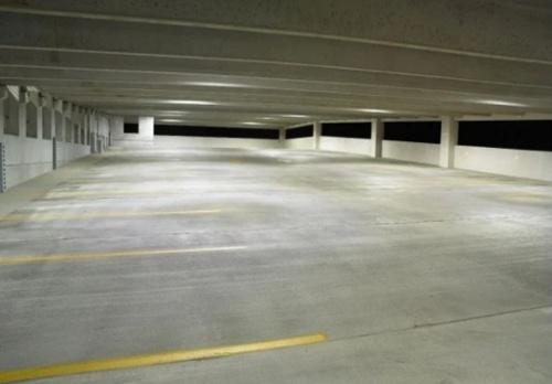 Parking Garage Empty at Night