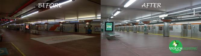 SEPTA underground subway platform LED lighting retrofit