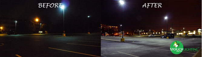 LED Lighting Conversion For New Jersey Parking Lot