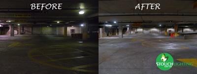 Franklin Institute Parking Garage LED Lighting Conversion