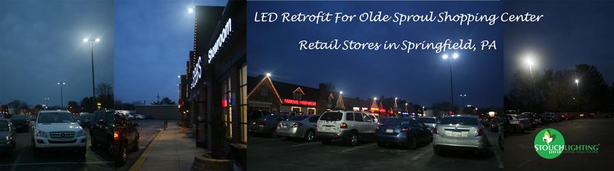 Springfield PA Shopping Center LED Lighting Conversion